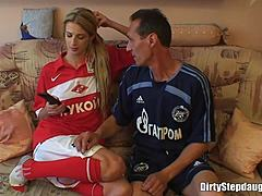 Blond stripling stepdaughter unfathomable owned by her stepfather